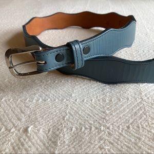 Nocona blue leather belt